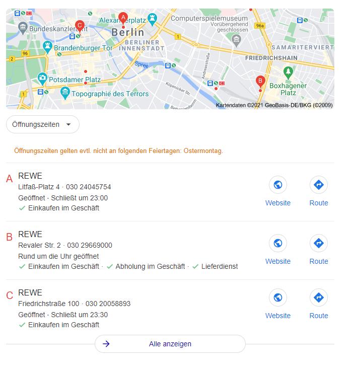 Lokale - SERP - Seo - Maps